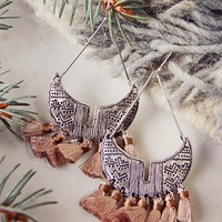 Winter Desert Tassel Earrings
