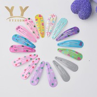 10pcs/lot  Kids Hair snap Clips Toddler Printing protect Barrette Child Hairpin School girl useful basic Accessories l59