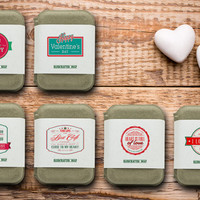 Handcrafted Valentine's Soap ,Cold Process Soap,  Moisturizing Soap, Valentines Day Gift for her and him