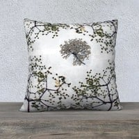 22x22 Elderberry Blossom Pillowcase - Floral Pillow Cover - Decorative Pillowcase - Throw Pillow Cover - Nature Pillowcase