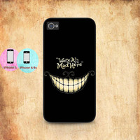 were all mad here cheshire cat for iphone 5 iphone 5s iphone 5c iphone 4 iphone 4s case
