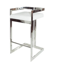 Hearst Nickel Bar Stool