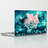 """Laptop Skin for MacBook Air/ Pro/ Retina 11"""" 13"""" 15"""" 17"""" and PC Laptops 13"""" 15"""" 17""""  Queen Rose"""