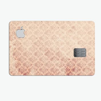 Micro Faded Maroon Rococo Pattern - Premium Protective Decal Skin-Kit for the Apple Credit Card