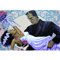Lowbrow Art Company The Wedding Art Print by Artist Mike Bell