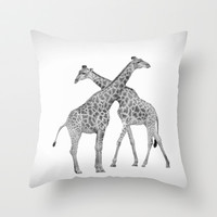 Crossed lives Throw Pillow by Armine Nersisian