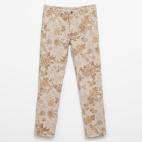 FLORAL PRINT CHINOS