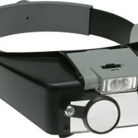 SE MH1047L Illuminated Multi-Power LED Head Magnifier