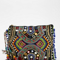 Ecote Beaded Mirror Clutch - Urban Outfitters