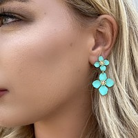 Grew On You Mint Lily Earrings