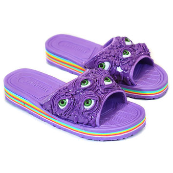 SLIME EYES RAINBOW SLIDES - PURPLE – tibbs & BONES