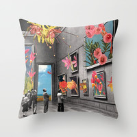 Natural History Museum Throw Pillow by Eugenia Loli