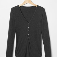 Cozy modal ribbed henley | Gap