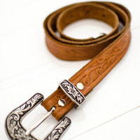 Cactus Rose Belt - Tan