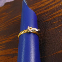 A tiny gold plated twinkle star mult-task ring, above knuckle ring,adjustable finger ring,stackable ring, toe ring, little finger ring