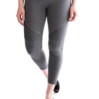 Sierra Moto Leggings Dark Grey