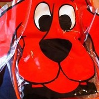 Clifford The Big Red Dog  Backpack  Purse Clear See Thru Toddler