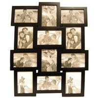 "4"" x 6"" Black Collage Frame with 12-Openings 