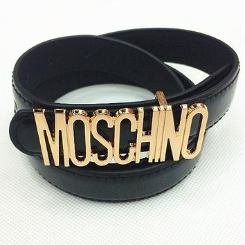 MOSCHINO letters Belt fashion wild candy candy belt mieniwe?