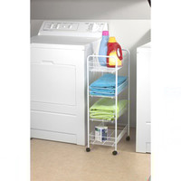 4-Tier Storage Cart - College dorm room organization cheap dorm room supplies organize your dorm college products dorm stuff college things