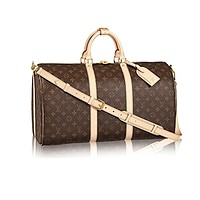 Louis Vuitton Monogram Canvas Cross Body Handle Keepall Bandoulière 50 Article:M41416