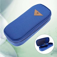 Stationery Pens Pencil Cases Cosmetic Storage Bags Travel Makeup Brush Box DB A609