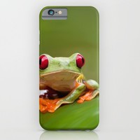 Posion Dart Frog Painting iPhone & iPod Case by Nick Bizzack Designs