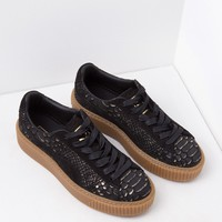Puma Snake Platform Sneakers in Black