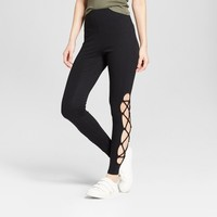 Women's High Waisted Lace-Up Leggings - Mossimo Supply Co.™ Black