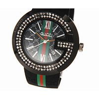Perfect GUCCI Woman Men Rhinestone Quartz Watches Wrist Watch