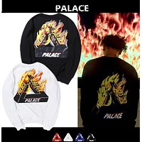 Palace Triangle Flame Cotton Crew Neck Sweater S Xxl