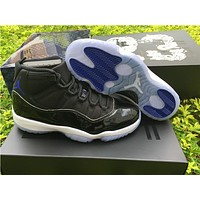 Air Jordan Retro 11 Space Jam 11s Basketball Shoes Original Quality Real Carbon Fiber Men And Women Shoes 378038 003