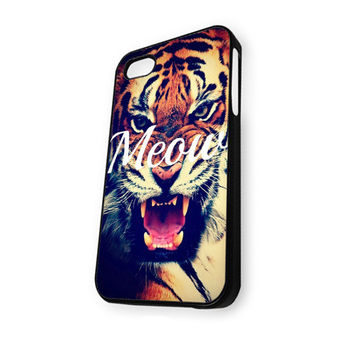 Wild Life MEOW Tiger iPhone 4/4S Case