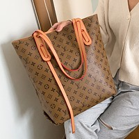 Louis Vuitton LV new product classic letter printing ladies two-piece shopping shoulder bag messenger bag handbag