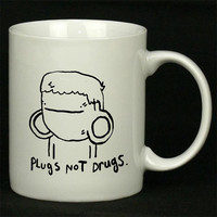 Pugs Not Drugs Cute For Ceramic Mugs Coffee *