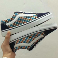 VANS Old SKoot Casual Shoes Men And Women Colorful White Cloth Shoes G-PSXY