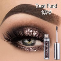 PHOERA Metallic Diamond Pearly Watery Eyeshadow Sparkling Party Radiant Fashion Liquid Eyeshadow