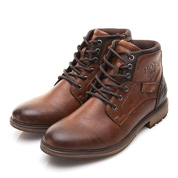 Vintage Style Leather Boots