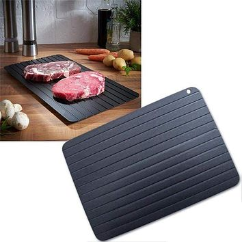 1pc Fast Defrost Tray Fast Thaw Frozen Meat Fish Sea Food Quick Defrosting Plate Board Tray Kitchen Gadget Tool Defrosting Trays