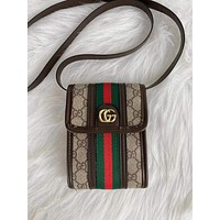 GUCCI GG stripe mini bag