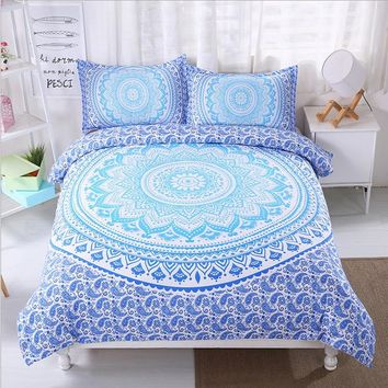 FANAIJIA bohemian bedding sets boho printed 3d  Mandala duvet cover set 3pcs Pillowcase full super king size Bedlinen