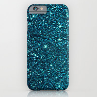 blue sparkle iPhone & iPod Case by Ingrid Beddoes