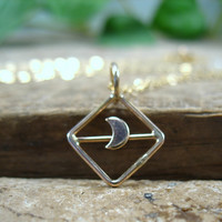Handmade Half Moon Necklace OAK