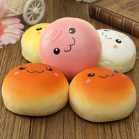 Quality Jumbo 10cm smile marshmallow bun squishy phone charm Squishy Pendants Baby Toys Phone Straps for Cell Phone Decoration