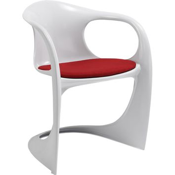 Sequence Dining Armchair Chair Red Fabric