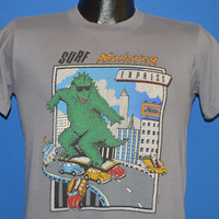 80s Hobie Surf Monster Godzilla t-shirt Small