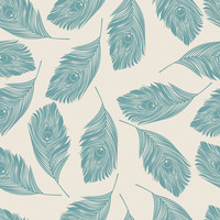Peacock Feathers Removable Wallpaper Decal