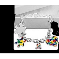 Autism Awareness Charm Bracelet