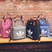 Adidas Canvas Backpack School Bookbag Travel Bag Daypack