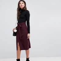 ASOS Tailored Pencil Skirt With Obi Tie at asos.com